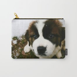 Saint Bernard Puppy Carry-All Pouch