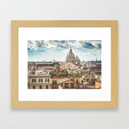 Rome rooftops Framed Art Print