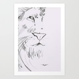 The Lord is a Lion Art Print