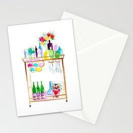 Watercolor Bar Cart no 1 Stationery Cards