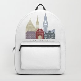 The Hague skyline poster Backpack