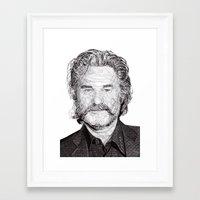kurt rahn Framed Art Prints featuring Kurt by Rik Reimert