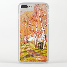 Tardis Art At The Tree Forest Clear iPhone Case
