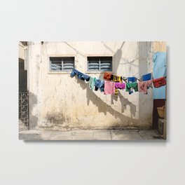 Still life on washing line Metal Print