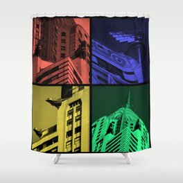 Chrysler Pop Art Shower Curtain