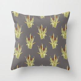 fall cattails Throw Pillow