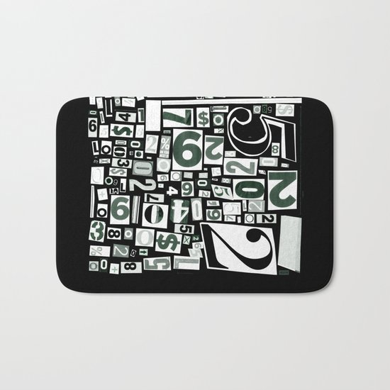 Numbers by Friztin Bath Mat