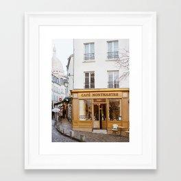 Cafe Montmartre - Paris Travel Photography Framed Art Print