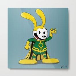 Oswald the Loki Rabbit Metal Print
