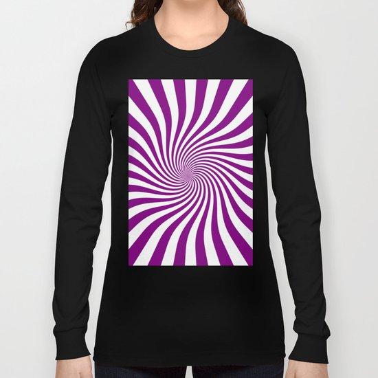 Swirl (Purple/White) Long Sleeve T-shirt