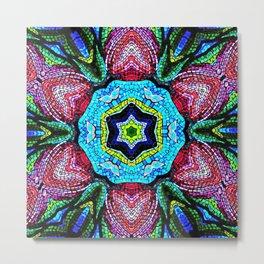 Tulip Mosaic Abstract Metal Print