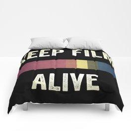 Keep Film Alive Comforters