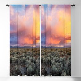 Enchanted Evening - Colorful Storm Cloud Over Desert near Taos, New Mexico Blackout Curtain