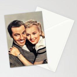 Cesar Romero and Carole Landis Stationery Cards
