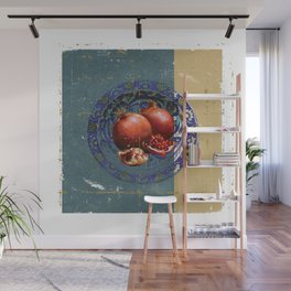 The Fine Art of Pomegranate in the Antique Plate! Wall Mural