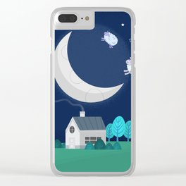What The Sheep Do While You Sleep Clear iPhone Case