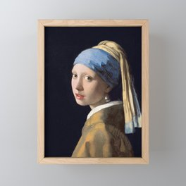 Girl With a Pearl Earring - Vermeer Framed Mini Art Print