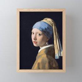 Girl With a Pearl Earring - Vermeer Framed Mini Art Print