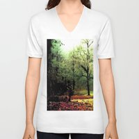 cycle V-neck T-shirts featuring cycle by Nev3r