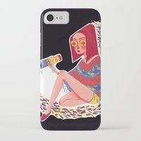 kaleidoscope iPhone & iPod Cases featuring Kaleidoscope by Hannah Lee Stockdale