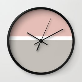Blush Horizon Line Art Wall Clock