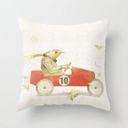 Bird runner Throw Pillow