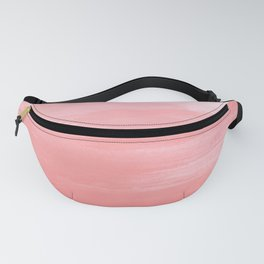 Pink and white Abstract Fanny Pack