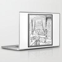puppies Laptop & iPad Skins featuring Corgi puppies by Agy Wilson