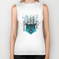 howl Biker Tanks featuring Howl by Kathryn Hudson Illustrations