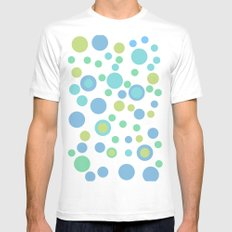 Circular Pastel Vector Mens Fitted Tee White MEDIUM