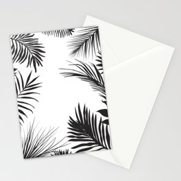 Black And White Palm Leaves Stationery Cards