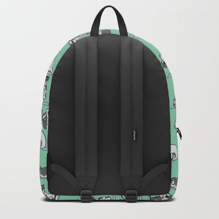 Miniature Schnauzer yoga Backpack