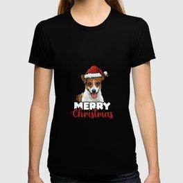 Merry Christmas Jack Russel Terrier Dog Lover Gift T-shirt
