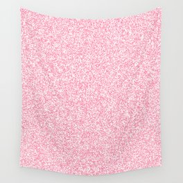 Spacey Melange - White and Flamingo Pink Wall Tapestry