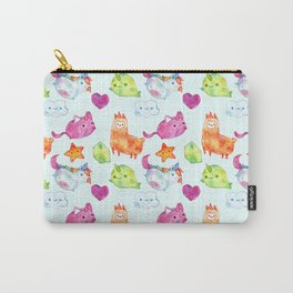 watercolor kawaii animal Carry-All Pouch
