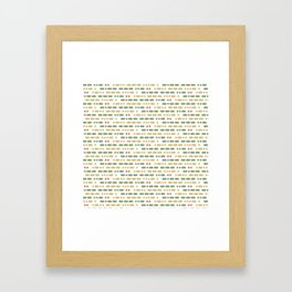 I Love You Morse Code II Framed Art Print