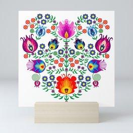 Folk Pattern - Flower Mini Art Print