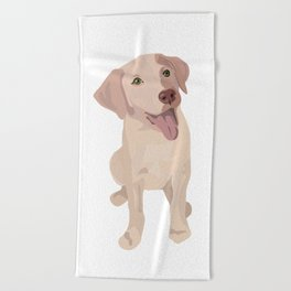 Golden (Lab) Girl Beach Towel