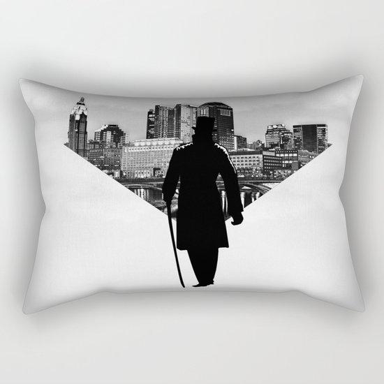 Gentleman walk Rectangular Pillow