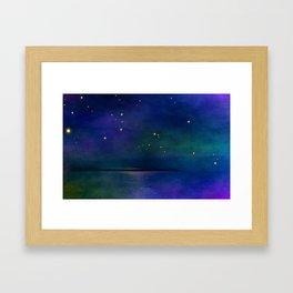 Winter lights Framed Art Print