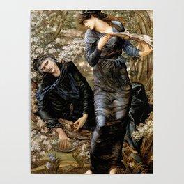 "Edward Burne-Jones ""Beguiling of Merlin"" Poster"