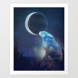 Moongazer Art Print