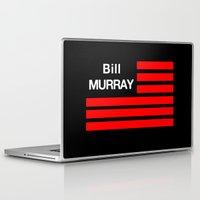 bill murray Laptop & iPad Skins featuring Bill Murray Flag by Spyck