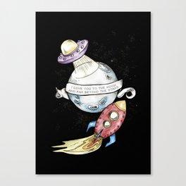 Moon Love Children's Room Poster Canvas Print