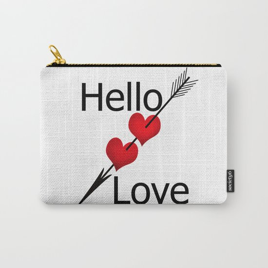 Hello love! White background . Carry-All Pouch