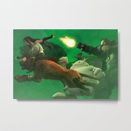 Northern Cave Battle Metal Print