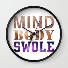Mind, Body, & Swole Wall Clock