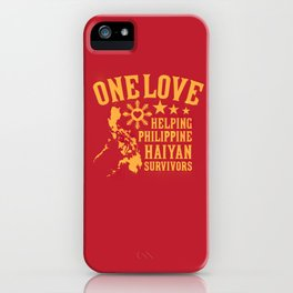 HAIYAN FUND RAISER iPhone Case