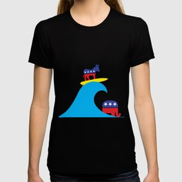 Democratic Donkey Riding Midterm Eection Blue Wave T-shirt
