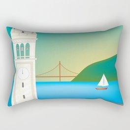 Berkeley, California - Skyline Illustration by Loose Petals Rectangular Pillow